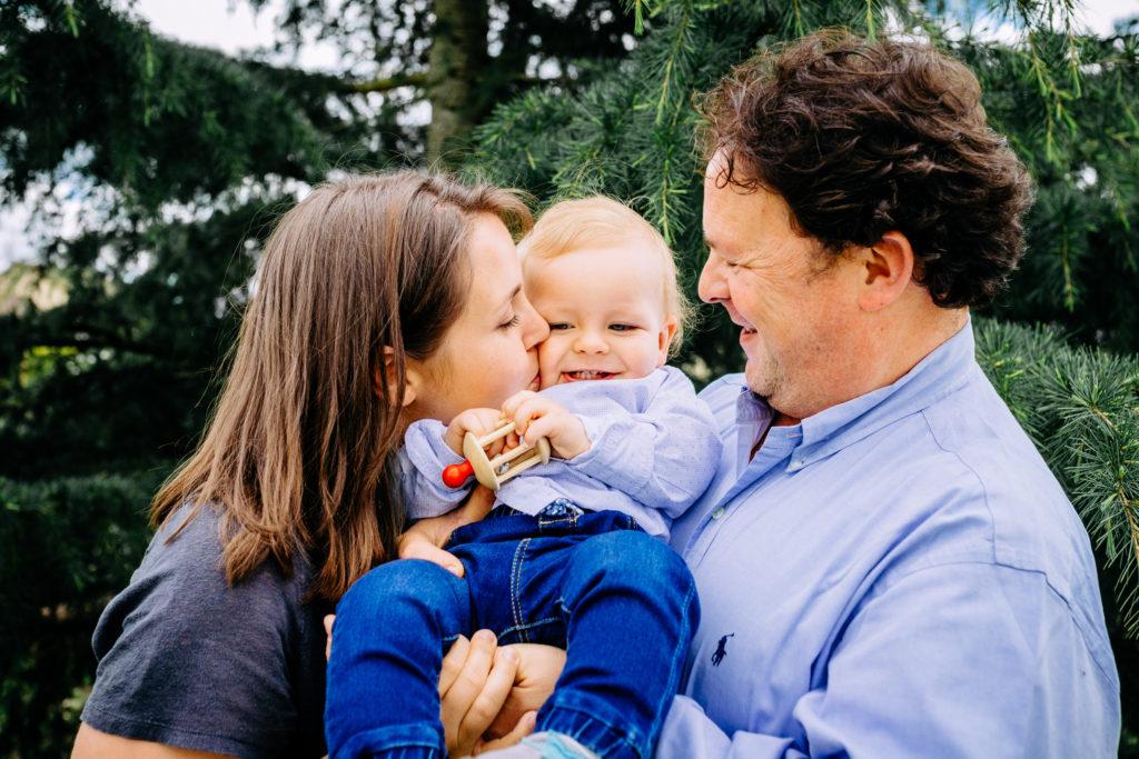 Photo de famille 1 an de bébé