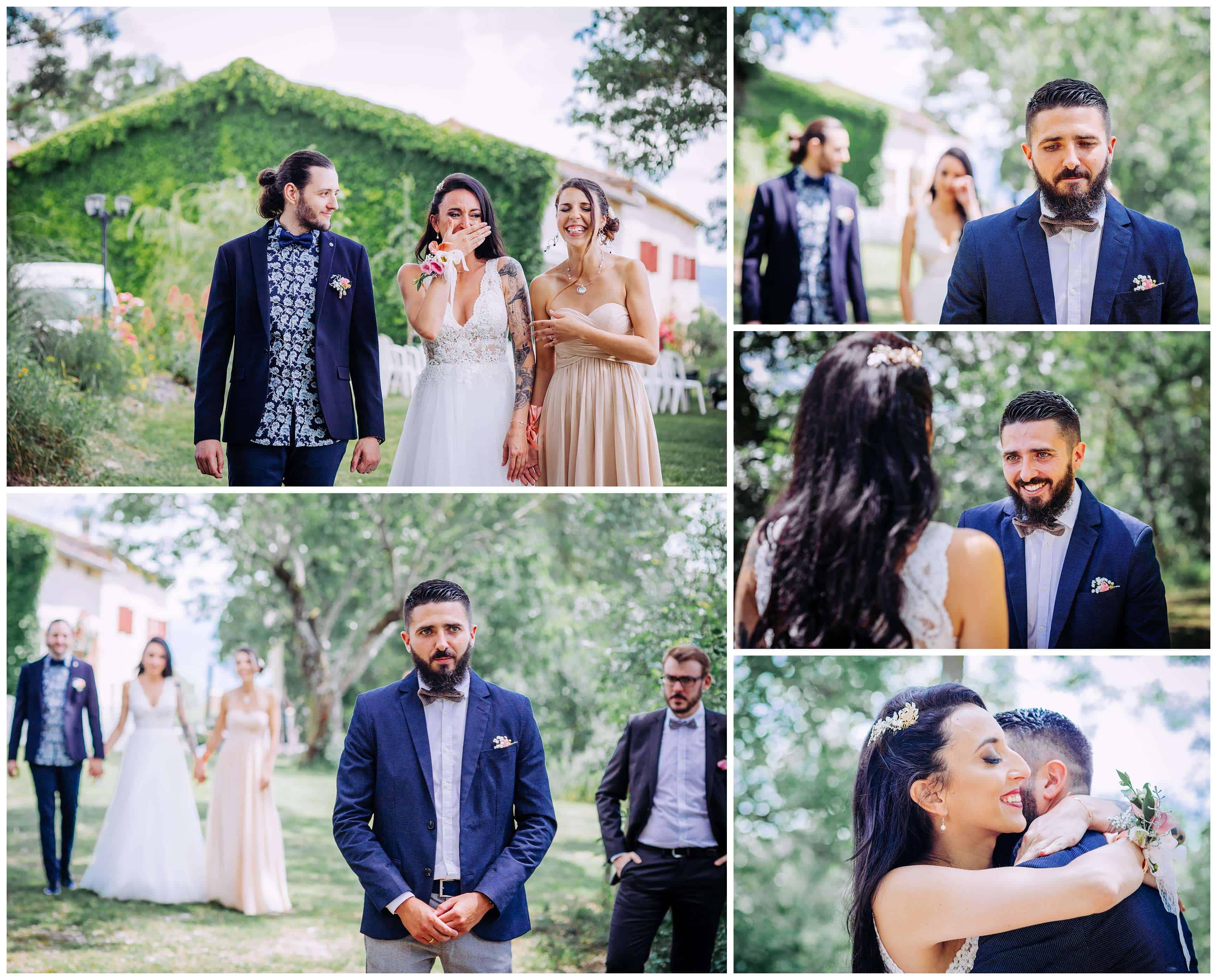 decouverte des mariés first look photographe 31