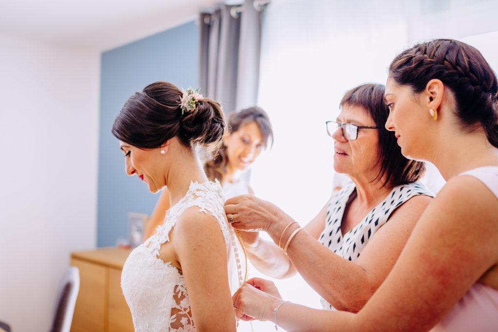 preparatif mariage fronton
