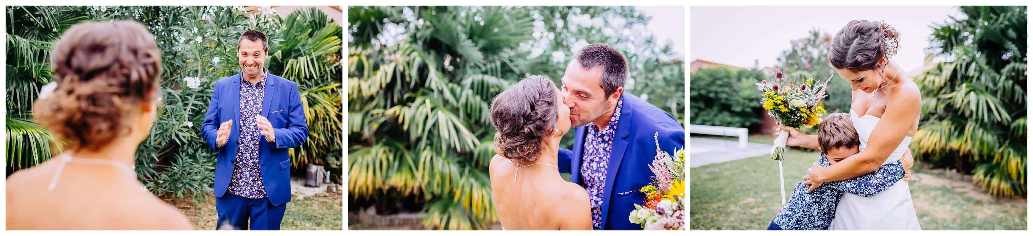 il decouvre sa femme en robe de mariée