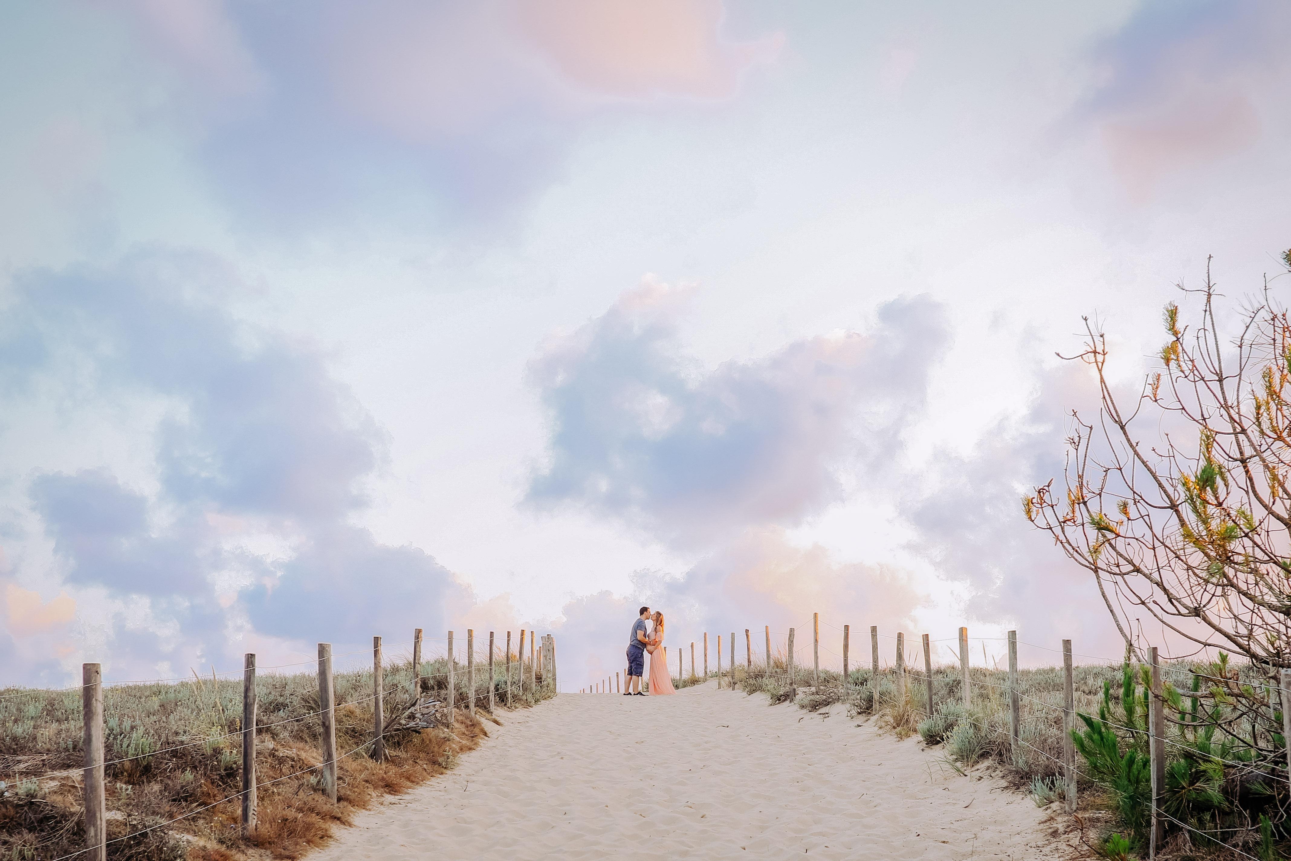 photographe maternité a la plage