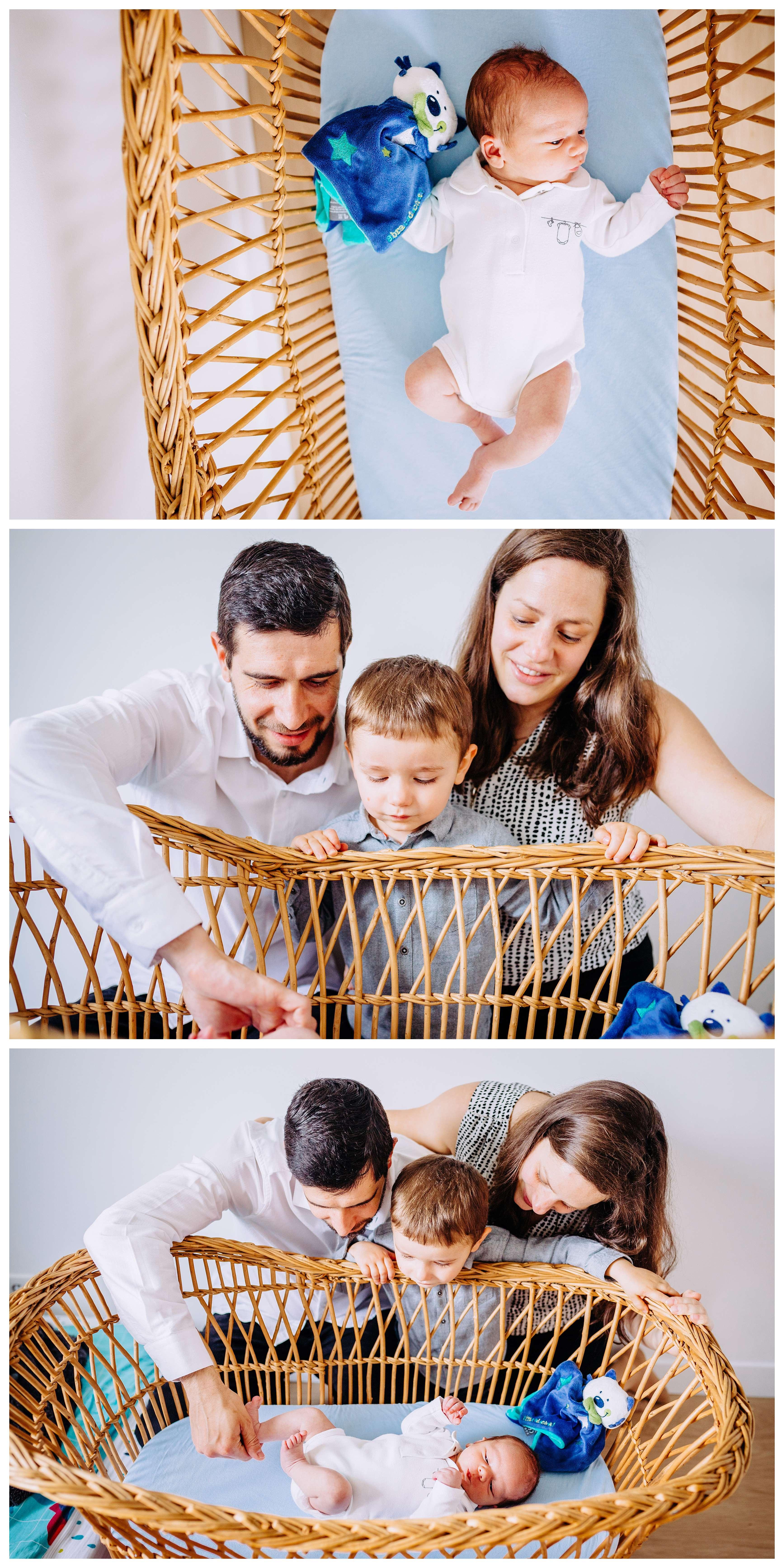 photo de bébé dans le berceau famillial