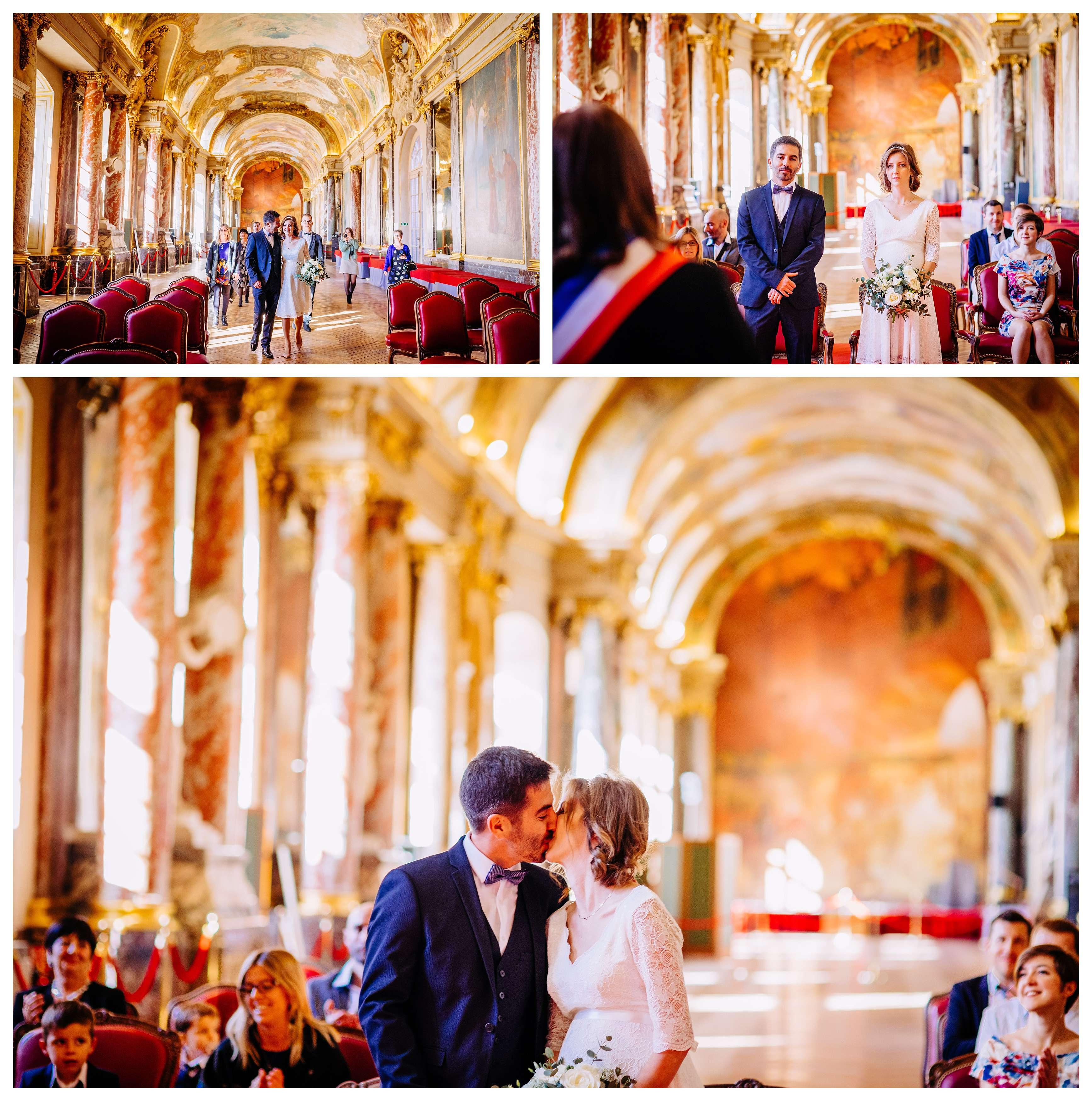 baiser pour mariage au capitole de E et Y
