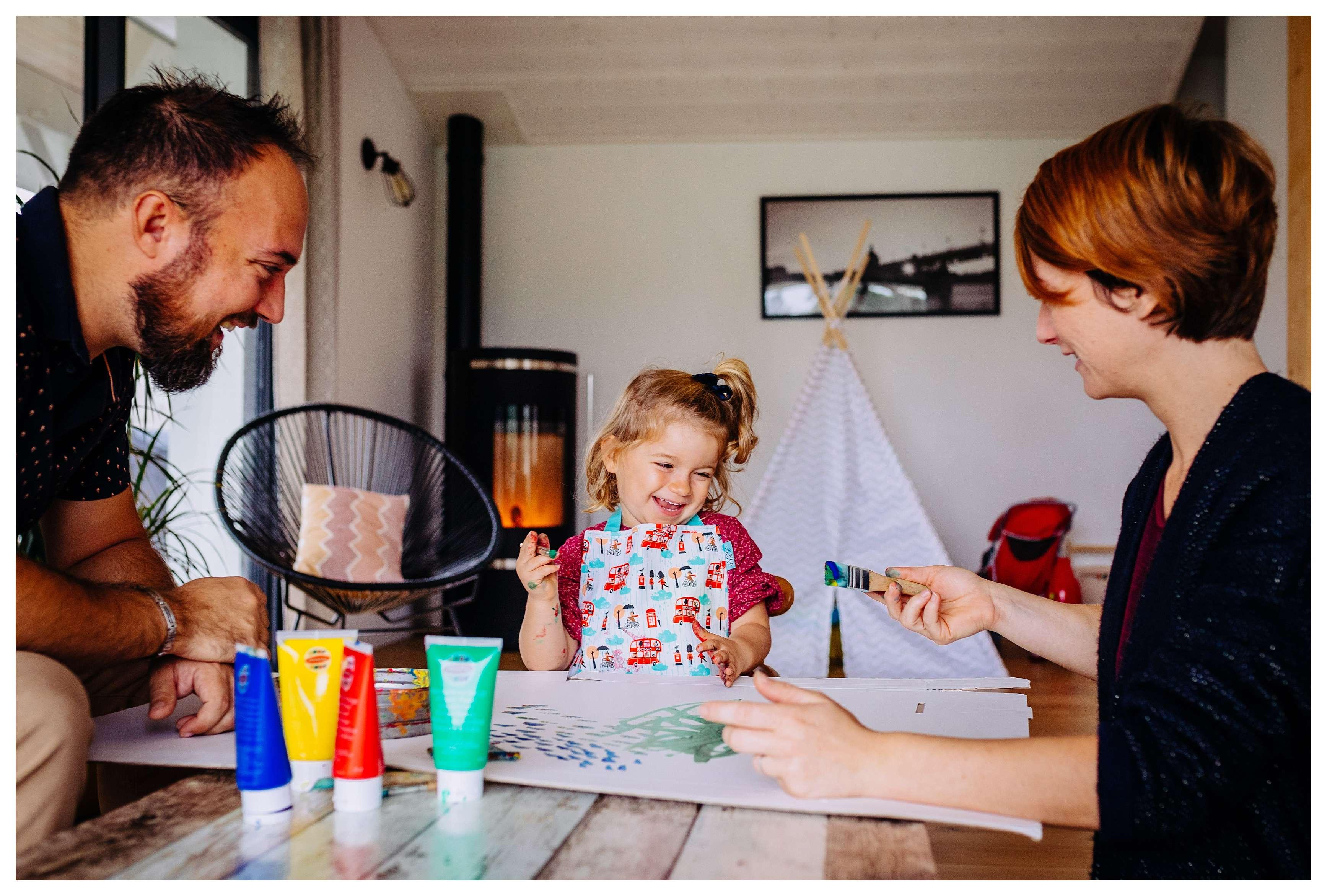 activité peinture a la maison